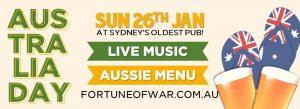 Australia Day 2020 Fortune of War